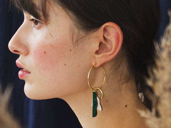 3 ways to wear the Collage Charm Hoops