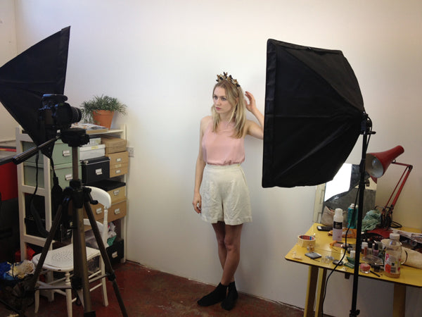 Wolf & Moon | Behind the Scenes of Headpiece Photoshoot