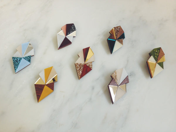 Wolf & Moon Studio | Deco Brooch