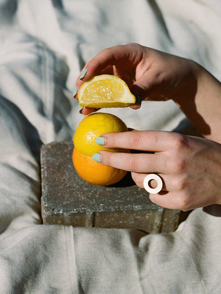 Disc Ring, by Wolf & Moon Jewellery