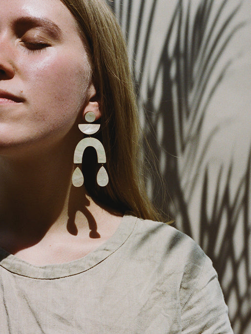 Corbero Earrings in Mother of Pearl