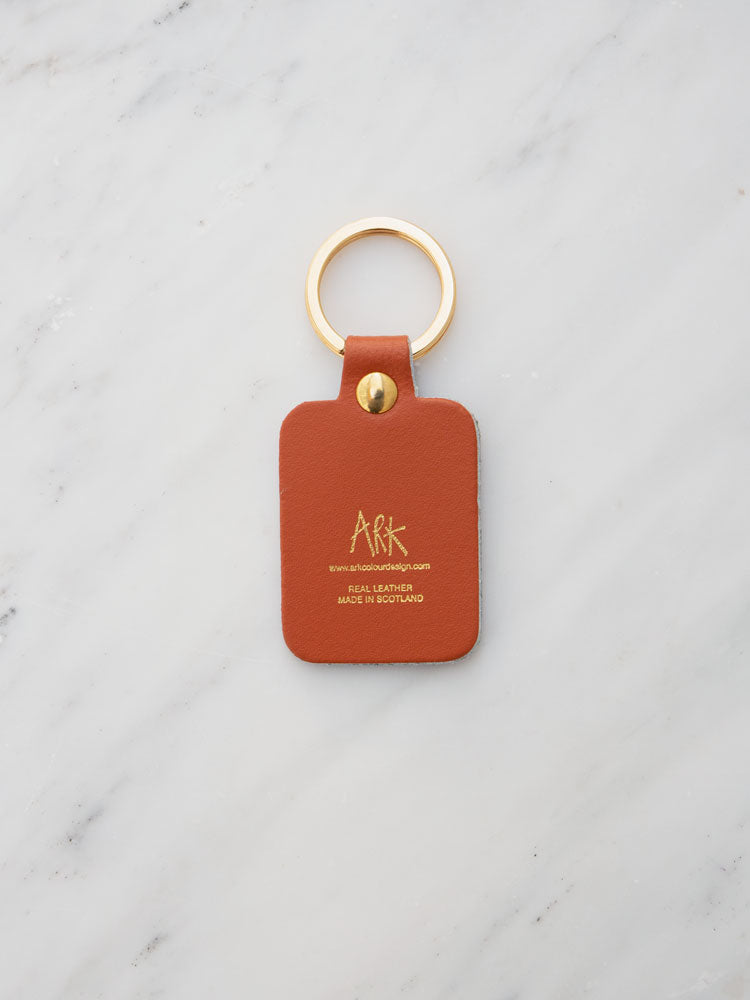 Willy Key Ring in Burnt Orange