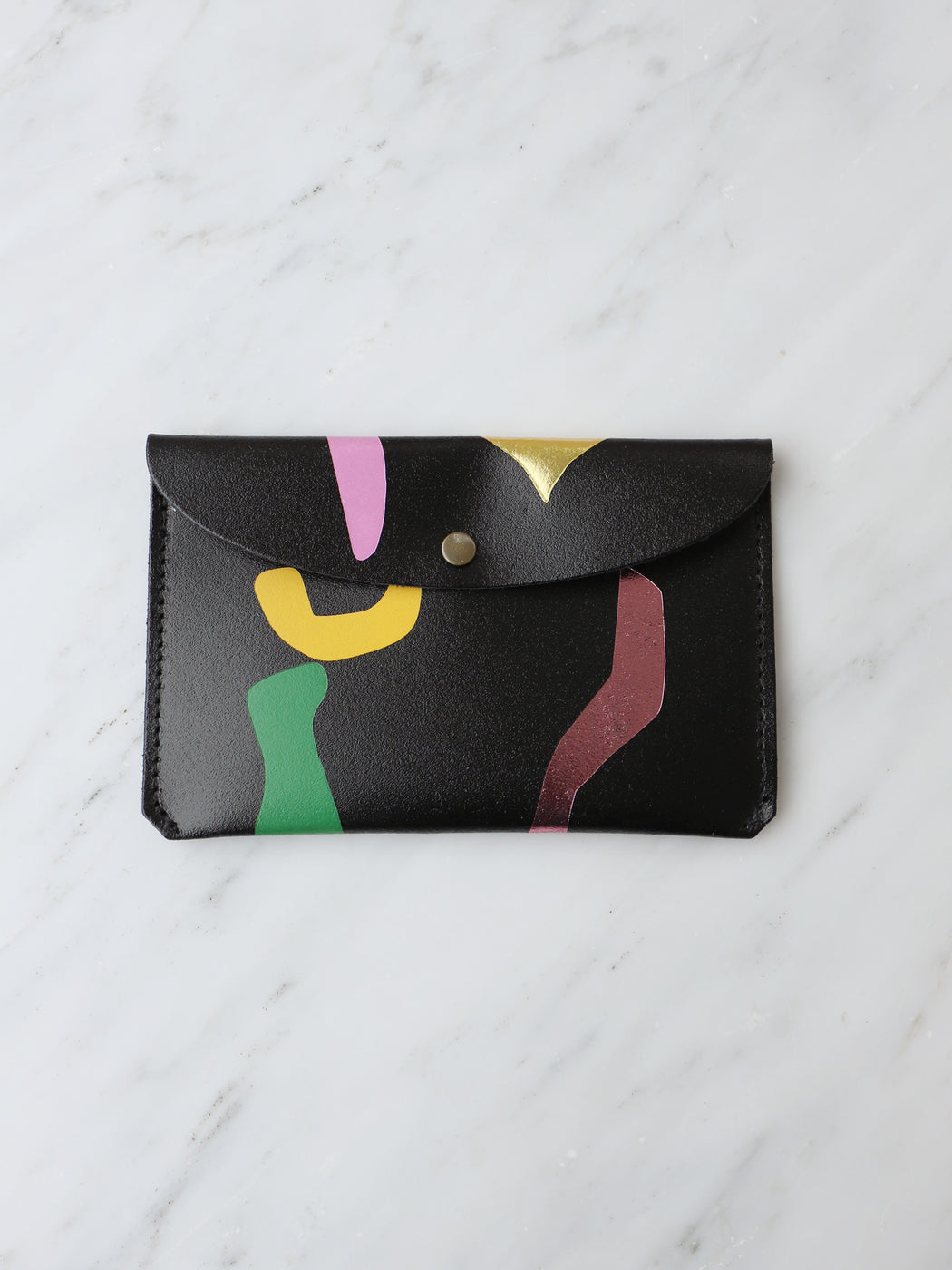 Abstract Large Purse in Black