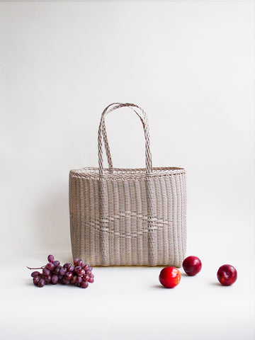 Medium Basket Bag - Concrete