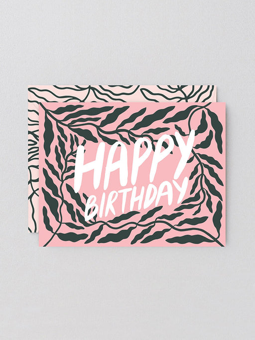 Birthday Leaves Greetings Card