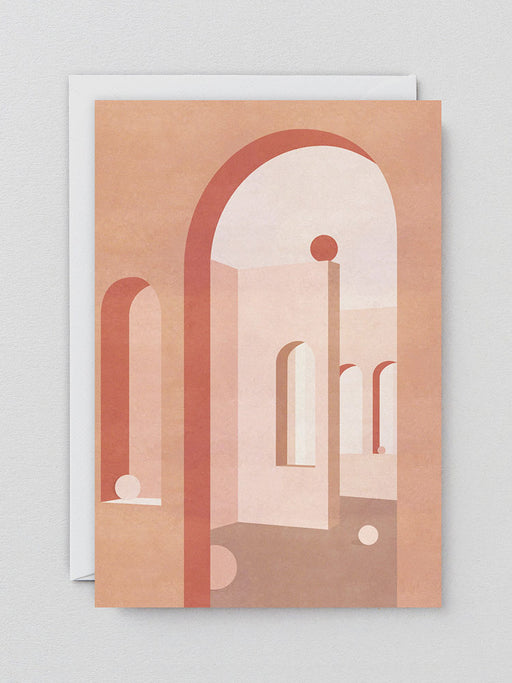 Terracotta Arches Greetings Card