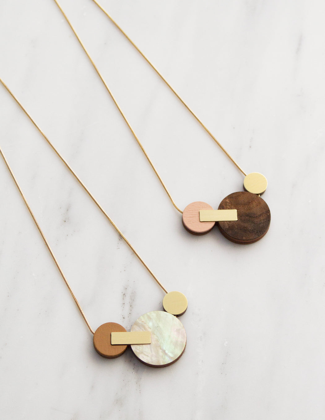 Celeste II Necklace in Walnut