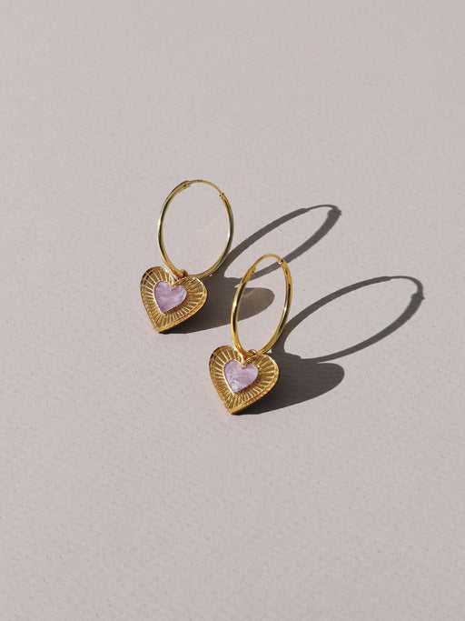 Mini Lyra Hoops in Lilac *Limited Edition*