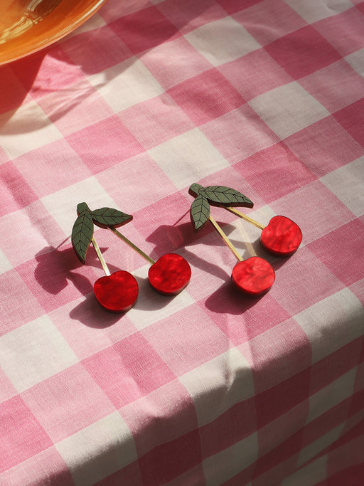 *Coming Soon* Cherry Earrings in Red