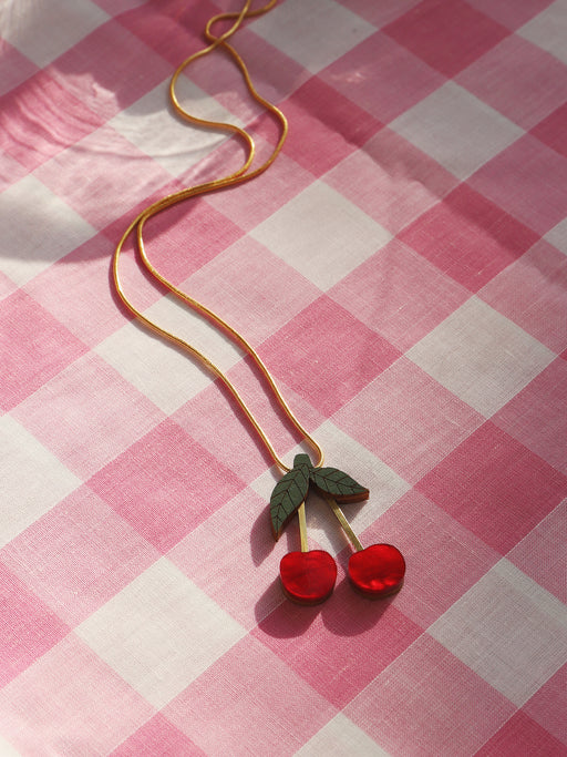 *Coming Soon* Cherry Necklace in Red