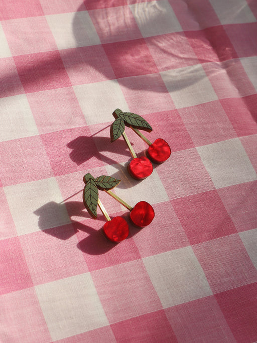 *Coming Soon* Mini Cherry Earrings in Red