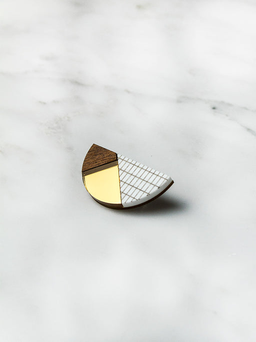 Elements Semi-Circle Brooch