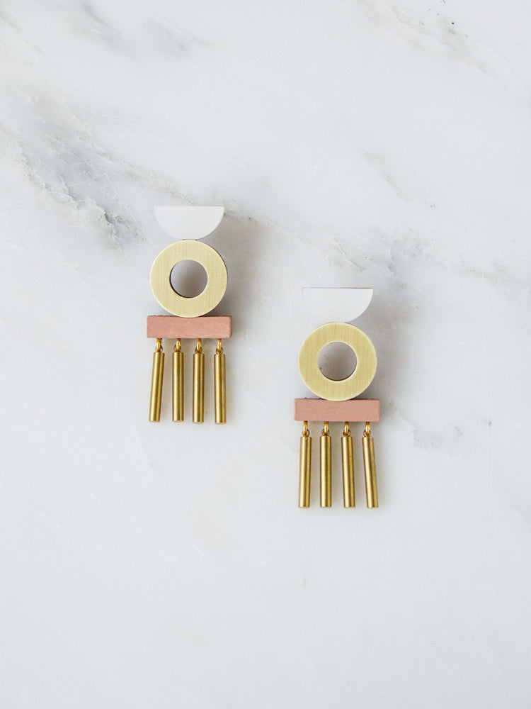 Memento Earrings in Blush