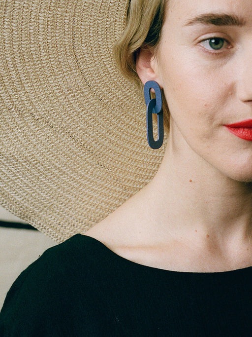 Alva Earrings in Blueberry