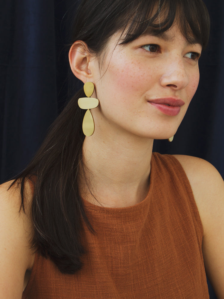 Ana Earrings in Brass