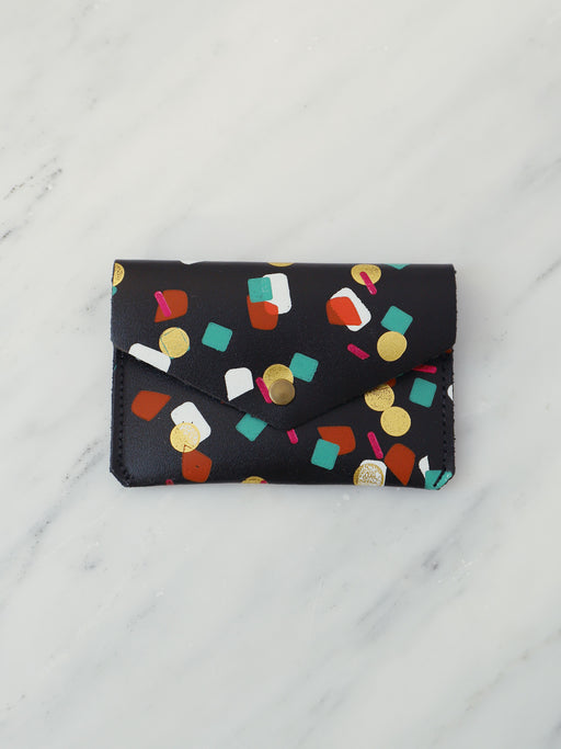 Tutti Frutti Popper Purse in Black