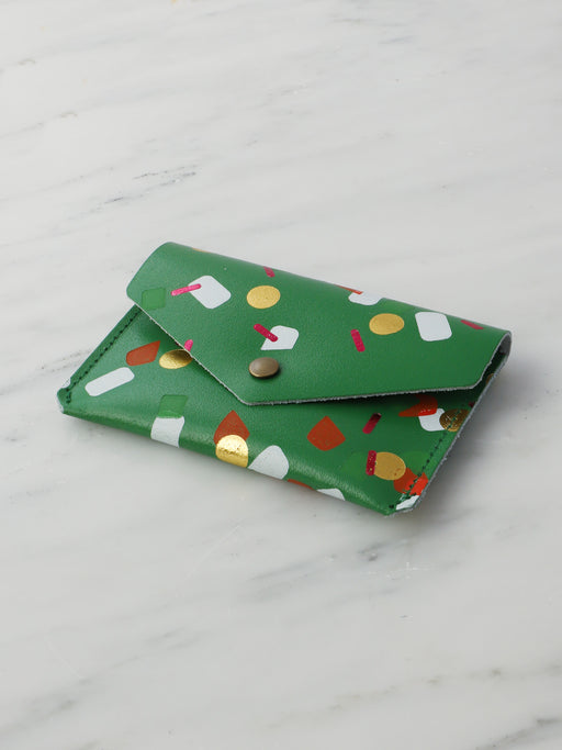 Tutti Frutti Popper Purse in Green
