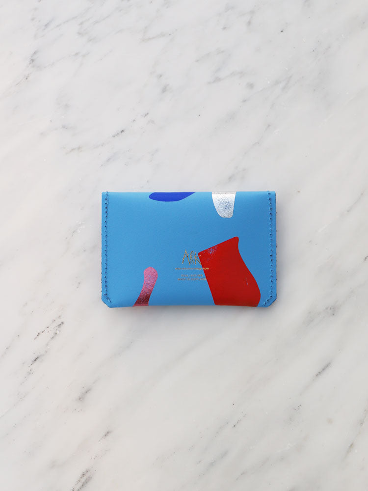 Abstract Popper Purse in Blue