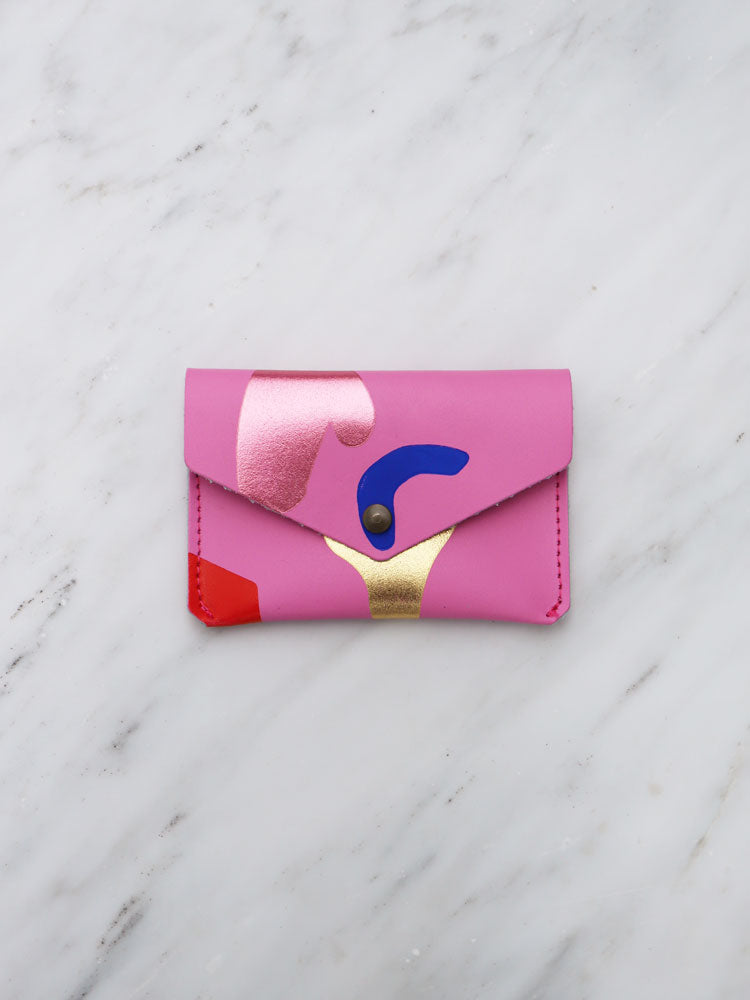 Abstract Popper Purse in Pink