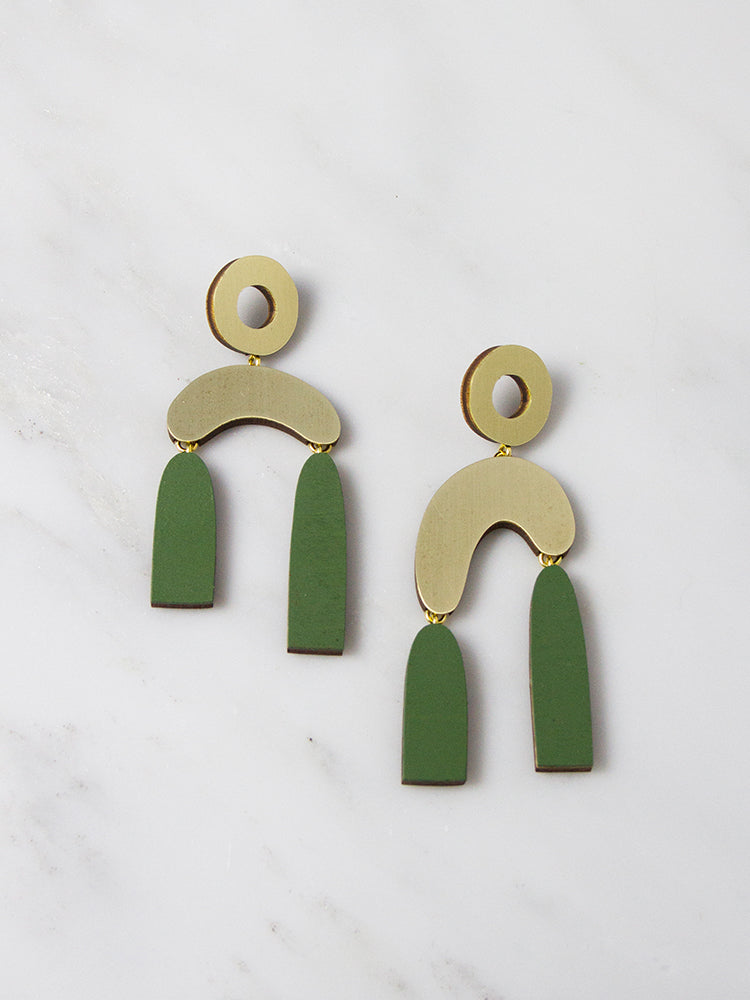 Fern Balance Earrings by Wolf & Moon