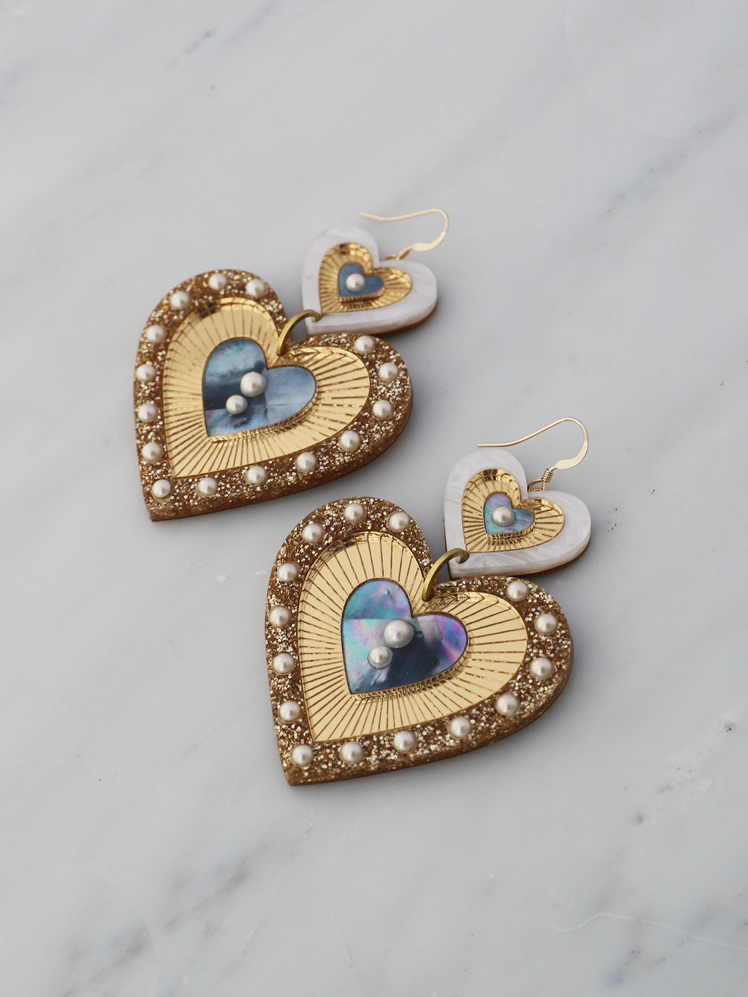 Bettie Earrings in Blue Mother of Pearl *Limited Edition*