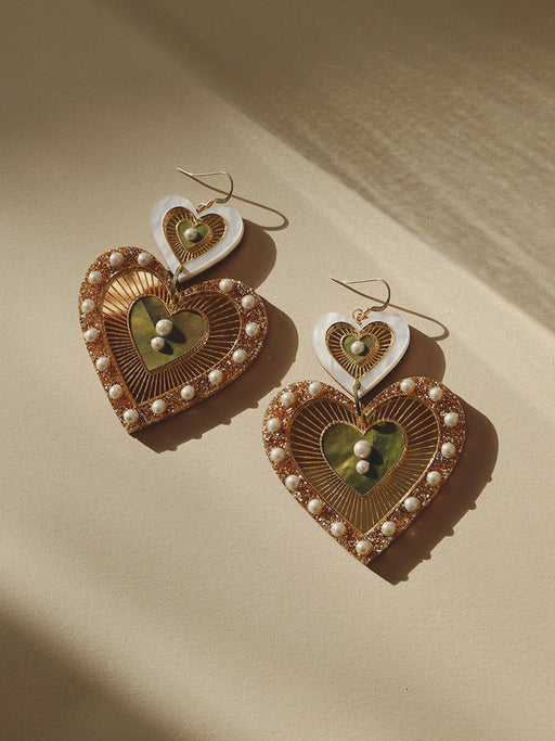 Bettie Earrings in Olive Mother of Pearl *Limited Edition*