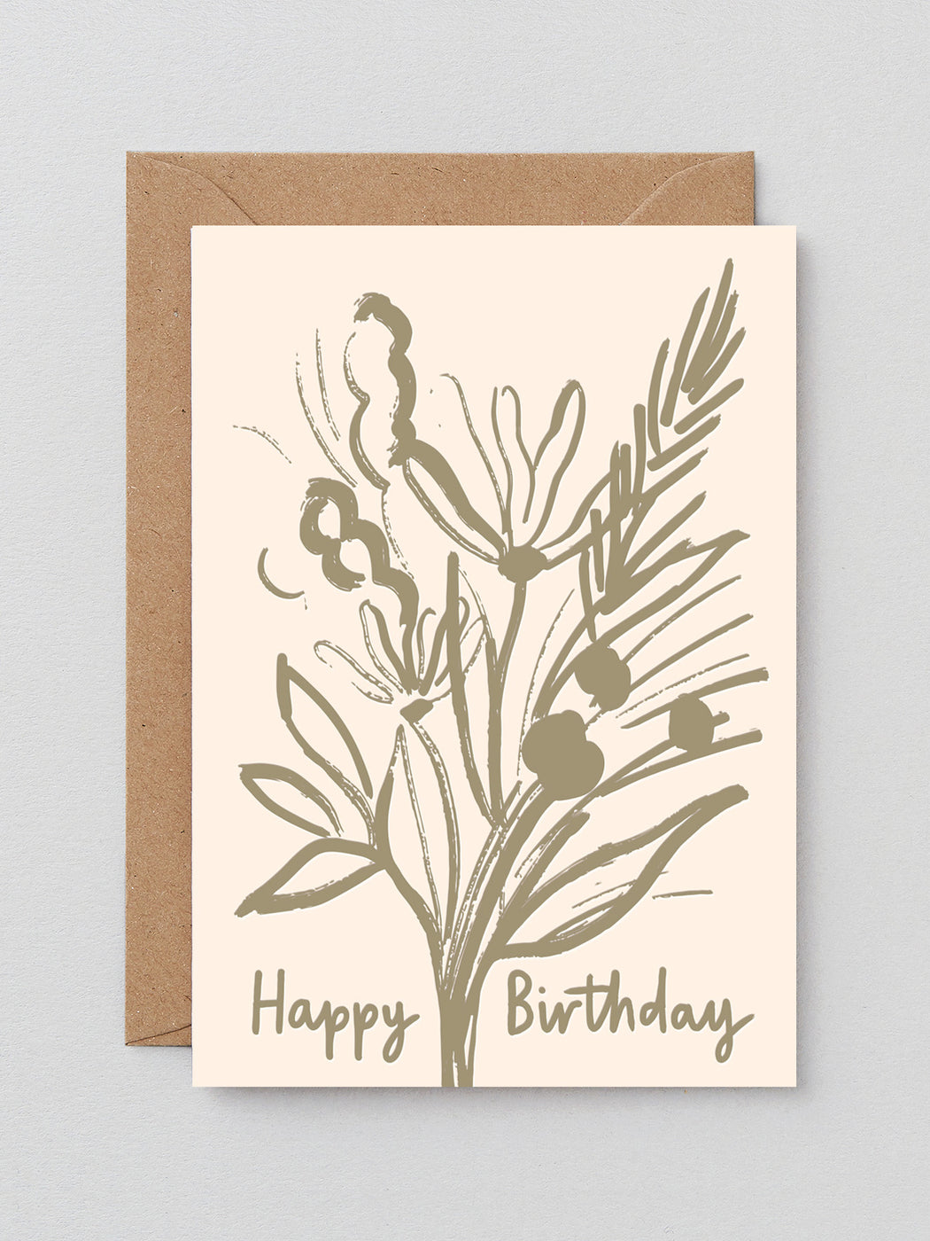 Birthday Bouquet Greetings Card