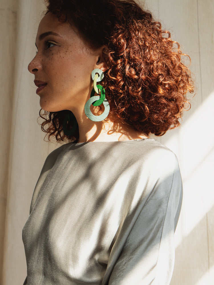 Brigitte Earrings in Green