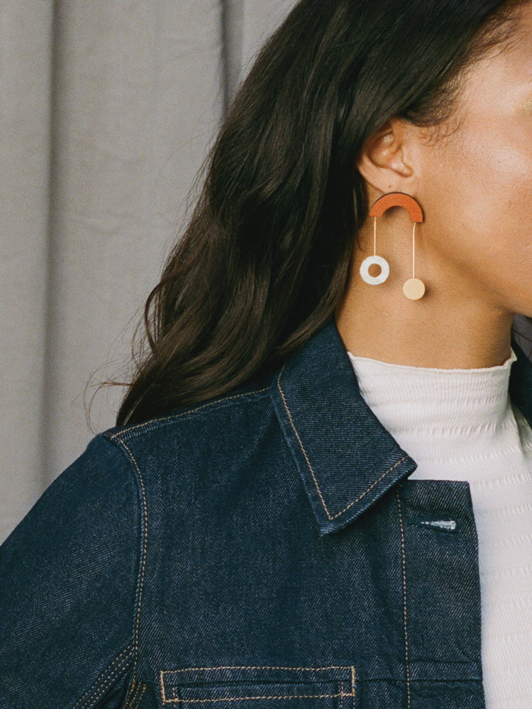 Cascade Earrings in Burnt Orange