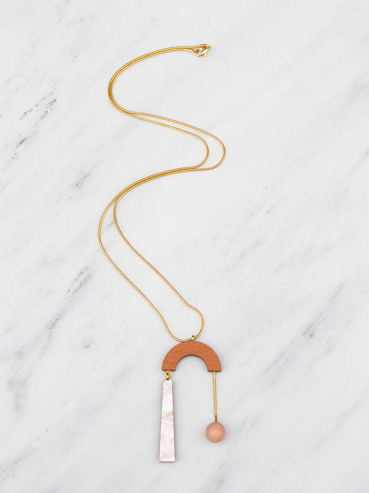 Cascade Necklace in Burnt Orange