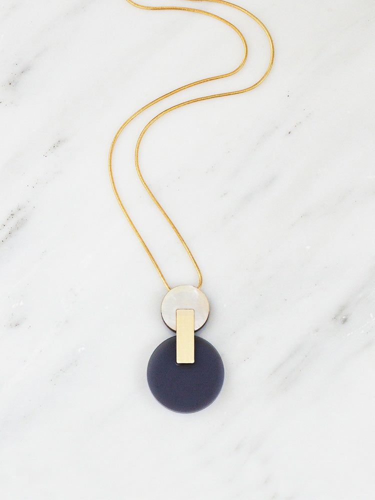 Celeste I Necklace in Navy