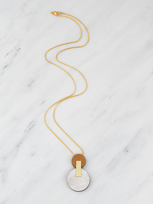 Celeste I Necklace in Mother of Pearl