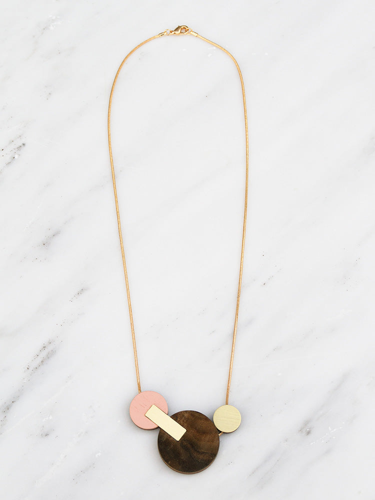 Celeste II Necklace | Original statement necklace handmade by Wolf & Moon