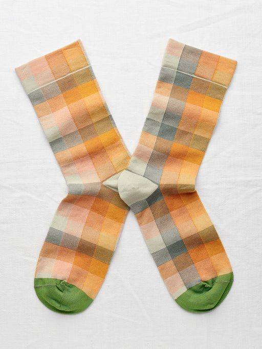 Orange Check Socks