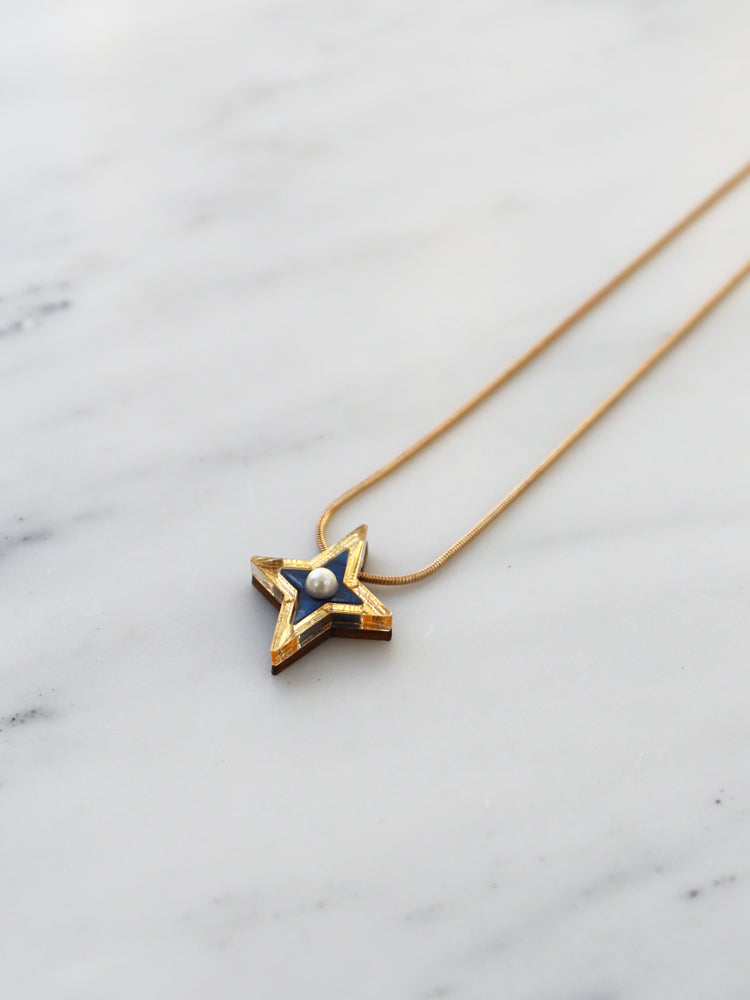 Limited Edition Constellation Necklace in Blue