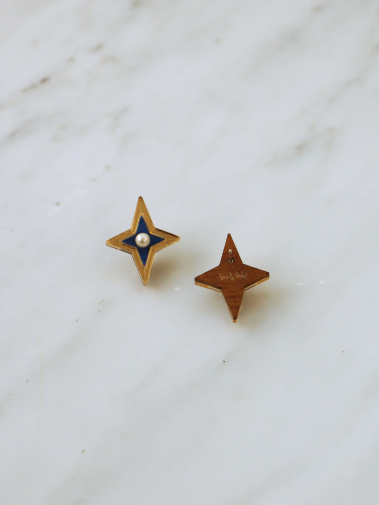 Limited Edition Constellation Studs in Blue