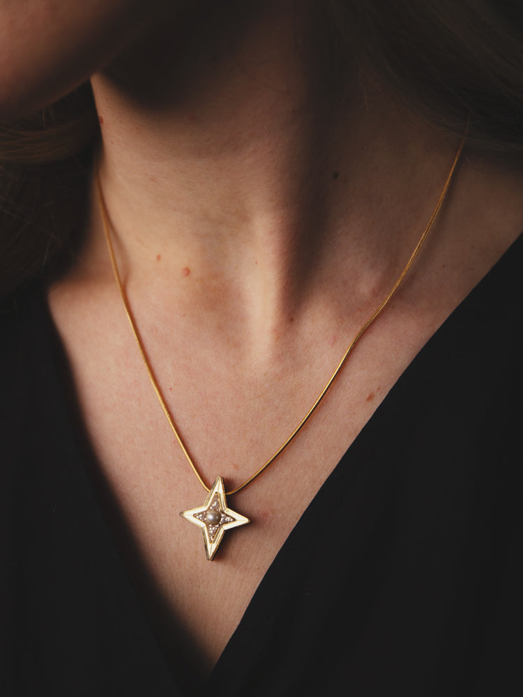 Limited Edition Constellation Necklace in Gold Glitter