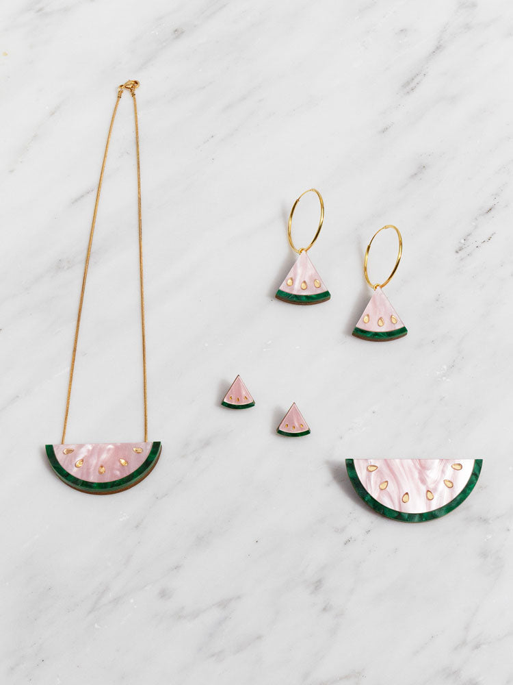 W&M X CoppaFeel! Watermelon Brooch