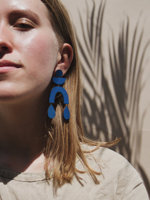 Corbero Earrings in Cobalt Blue