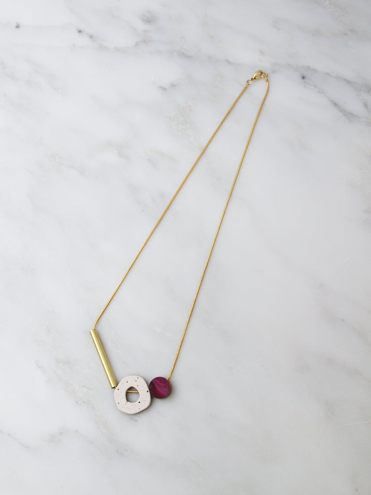 Cutout Necklace in Cherry