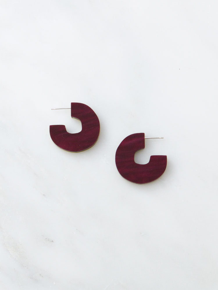 Cutout Studs in Cherry