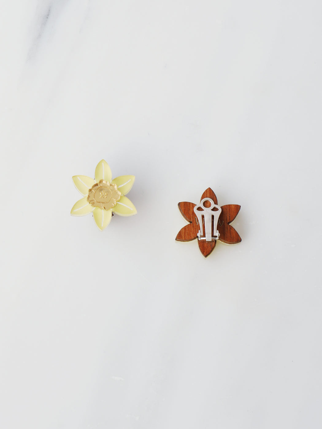 Daffodil Studs - Clip-on