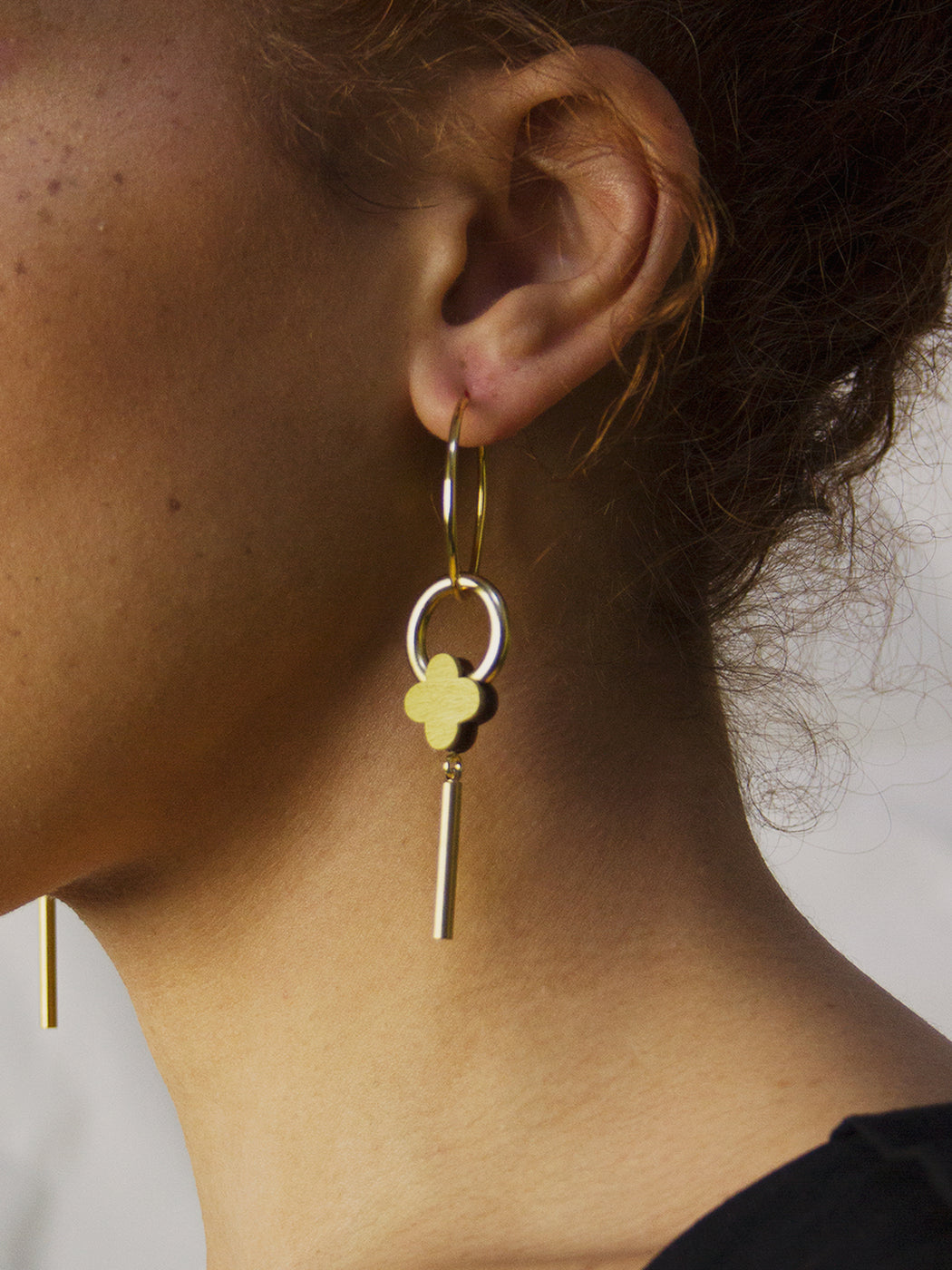 Edie Hoops in Chartreuse