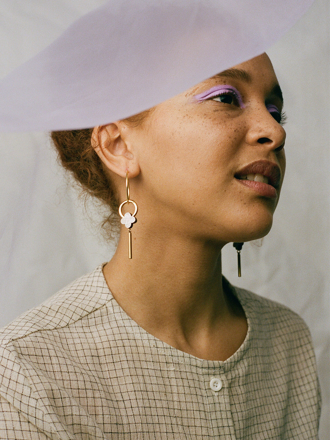 Edie Hoops in Mother of Pearl