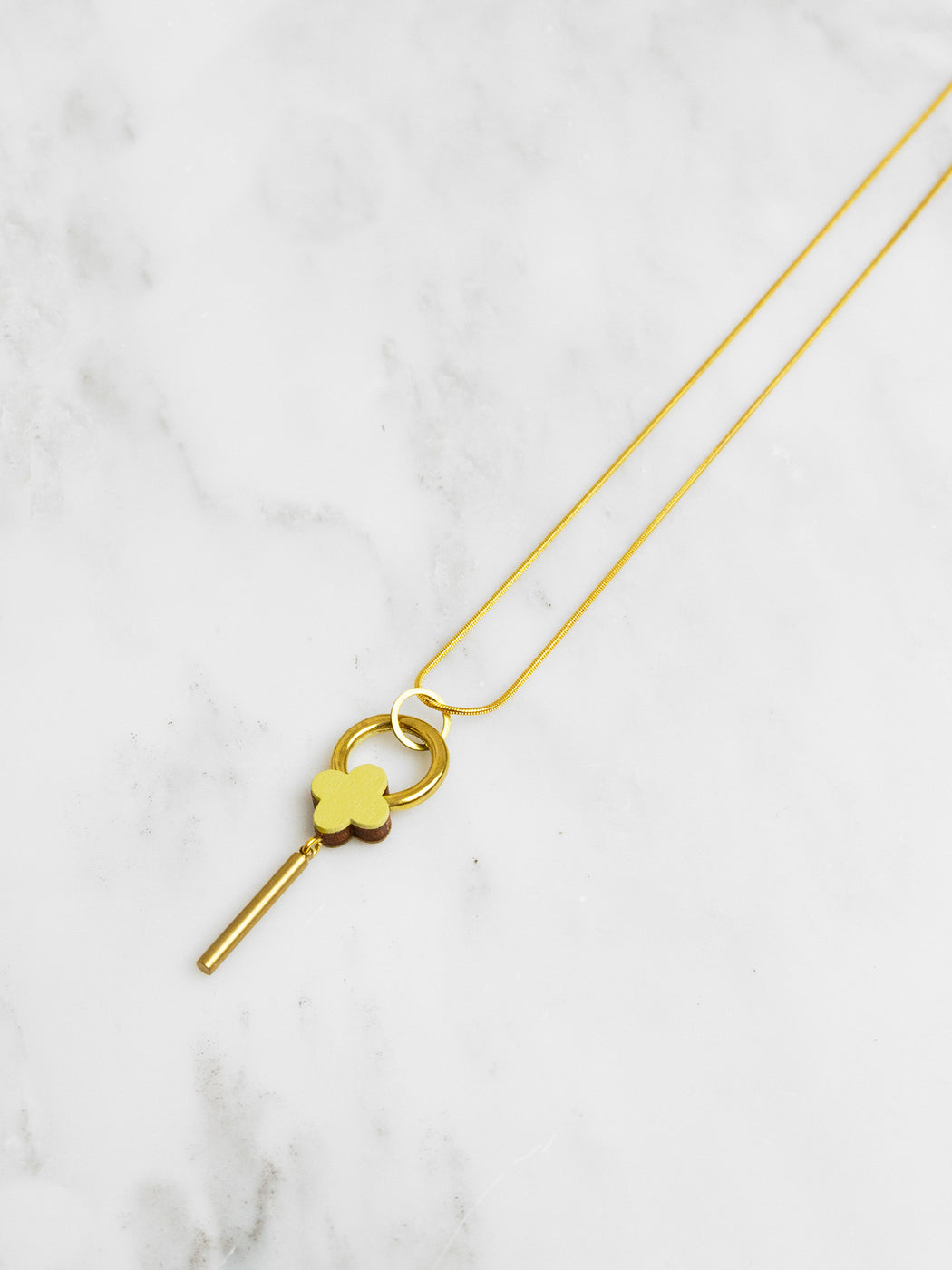 Edie Necklace in Chartreuse
