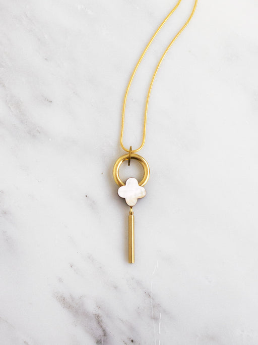 Edie Necklace in Mother of Pearl