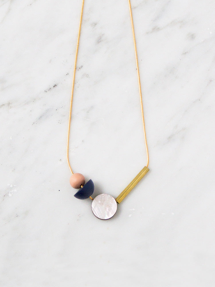 Elara Necklace in Midnight Blue