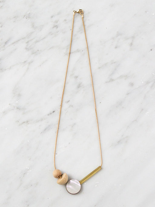 Elara Necklace in Wood