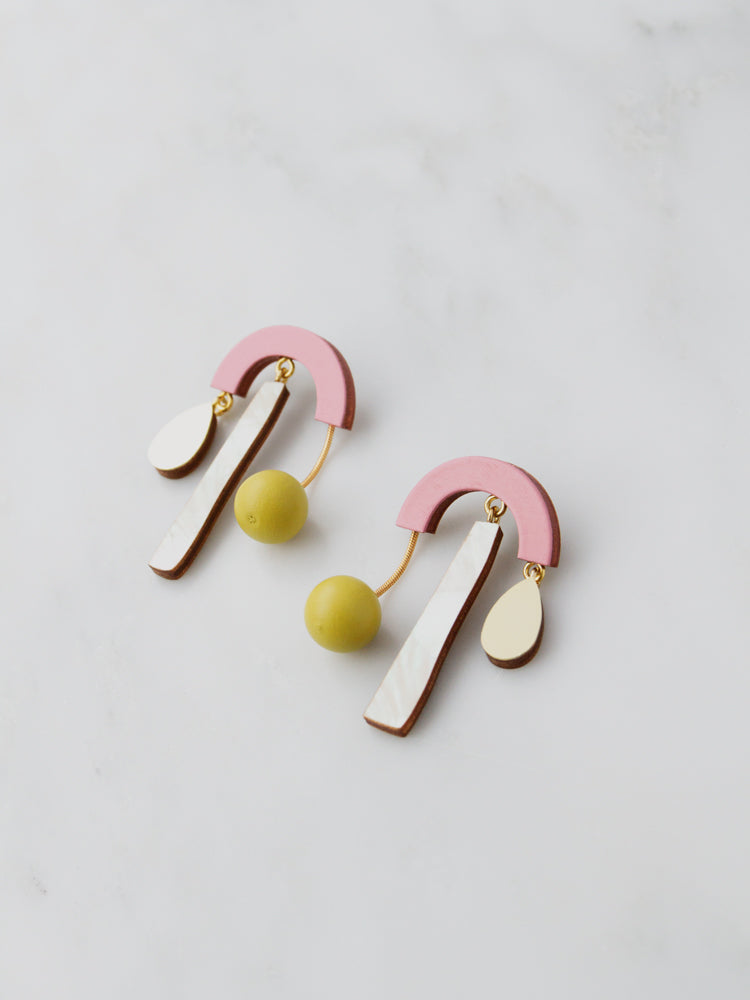 Ella Earrings in Rose