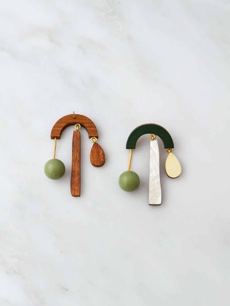 Ella Earrings in Spruce Green